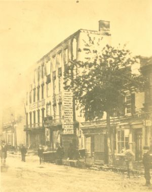 Hagerstown,  Washington House, West Washington Street after the fire, May 1879