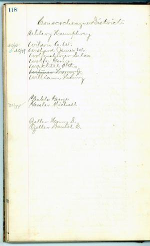 Jury list, 1877-1879, Washington County, Maryland.
