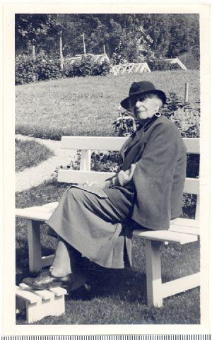 Anna Brugh Singer outside her Olden, Norway home.