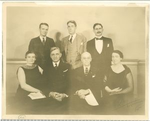 Some of the Museum's Board of Trustees and staff gather for a photograph.