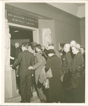 Visitors crowd into the newly opened William H. Singer, Jr. Memorial Gallery.