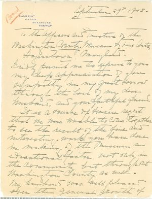 A letter after the death of William H. Singer, Jr.