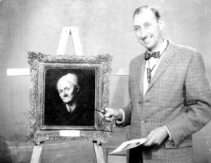 The Museum's Director uses a painting as an illustration.