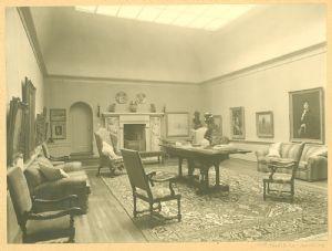 Interior of the Singer's home in Blaricum, Holland.