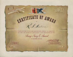 Fairchild E Award Certificate - Reba Williams