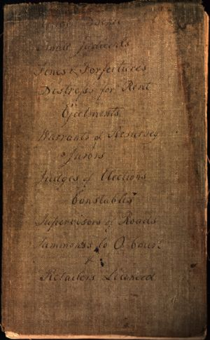 Cover of Sheriff's log