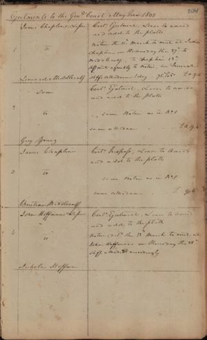 Ejectments to the General Court, May Term 1805