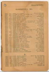 Hagerstown District Telephone Directory of the Chesapeake and Potomac Telephone Company, 1907: Page 5