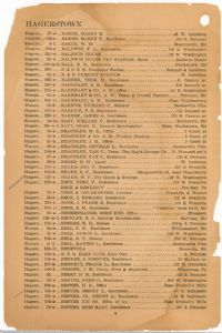 Hagerstown District Telephone Directory of the Chesapeake and Potomac Telephone Company, 1907: Page 6