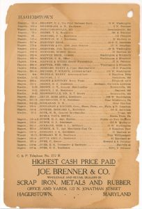 Hagerstown District Telephone Directory of the Chesapeake and Potomac Telephone Company, 1907: Page 8