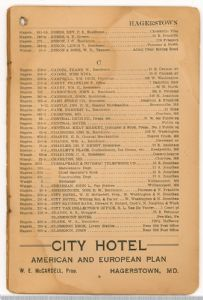 Hagerstown District Telephone Directory of the Chesapeake and Potomac Telephone Company, 1907: Page 9