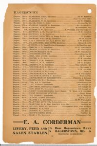 Hagerstown District Telephone Directory of the Chesapeake and Potomac Telephone Company, 1907: Page 10