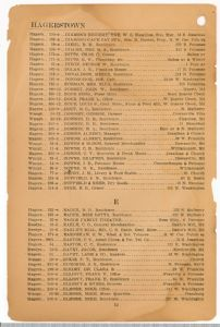 Hagerstown District Telephone Directory of the Chesapeake and Potomac Telephone Company, 1907: Page 12