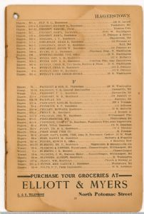 Hagerstown District Telephone Directory of the Chesapeake and Potomac Telephone Company, 1907: Page 13