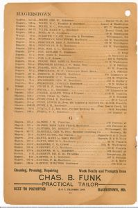 Hagerstown District Telephone Directory of the Chesapeake and Potomac Telephone Company, 1907: Page 14