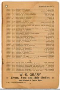 Hagerstown District Telephone Directory of the Chesapeake and Potomac Telephone Company, 1907: Page 15