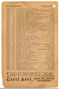 Hagerstown District Telephone Directory of the Chesapeake and Potomac Telephone Company, 1907: Page 16
