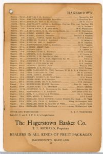 Hagerstown District Telephone Directory of the Chesapeake and Potomac Telephone Company, 1907: Page 17