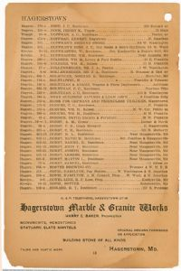 Hagerstown District Telephone Directory of the Chesapeake and Potomac Telephone Company, 1907: Page 18