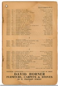 Hagerstown District Telephone Directory of the Chesapeake and Potomac Telephone Company, 1907: Page 19