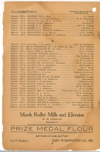 Hagerstown District Telephone Directory of the Chesapeake and Potomac Telephone Company, 1907: Page 24