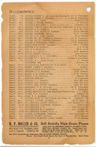 Hagerstown District Telephone Directory of the Chesapeake and Potomac Telephone Company, 1907: Page 26