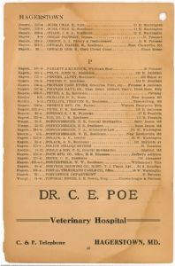 Hagerstown District Telephone Directory of the Chesapeake and Potomac Telephone Company, 1907: Page 28