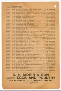 Hagerstown District Telephone Directory of the Chesapeake and Potomac Telephone Company, 1907: Page 30