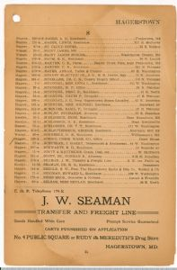 Hagerstown District Telephone Directory of the Chesapeake and Potomac Telephone Company, 1907: Page 31