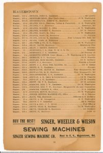 Hagerstown District Telephone Directory of the Chesapeake and Potomac Telephone Company, 1907: Page 32