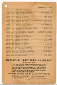 Hagerstown District Telephone Directory of the Chesapeake and Potomac Telephone Company, 1907: Page 33