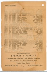 Hagerstown District Telephone Directory of the Chesapeake and Potomac Telephone Company, 1907: Page 36