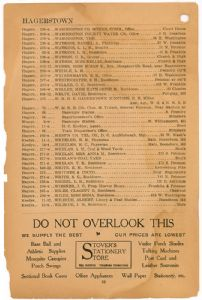 Hagerstown District Telephone Directory of the Chesapeake and Potomac Telephone Company, 1907: Page 38