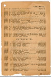 Hagerstown District Telephone Directory of the Chesapeake and Potomac Telephone Company, 1907: Page 43