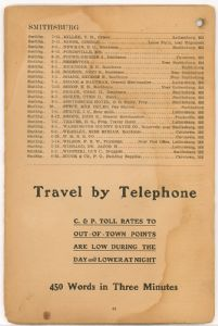 Hagerstown District Telephone Directory of the Chesapeake and Potomac Telephone Company, 1907: Page 44
