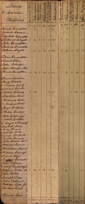 Lower Anteatam Hundred - Slaves
